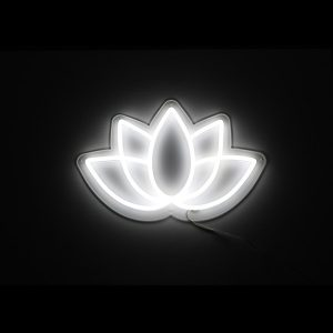 Foto neón flor de loto