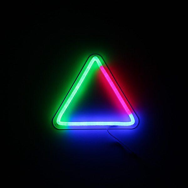 Foto neón triángulo