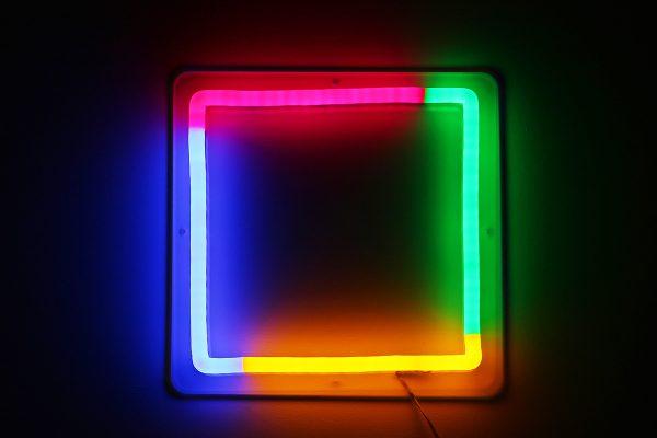 Foto neones cuadrado